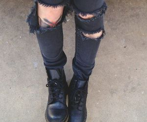 90's, black, and combat boots image