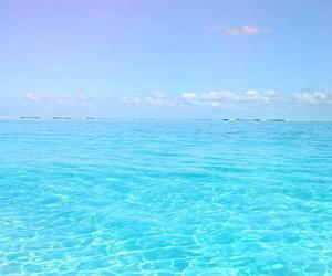 blue, sea, and beach image