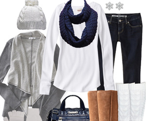 winter, blue, and fashion image