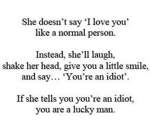 love, idiot, and laugh image