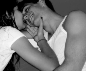 bw, couple, and smile image
