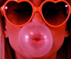 bubblegum, pink, and heart image