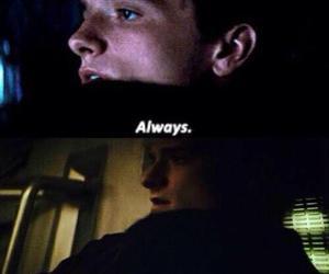 always, peeta, and katniss image