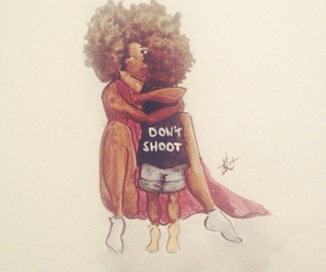 Afro, mother, and son image