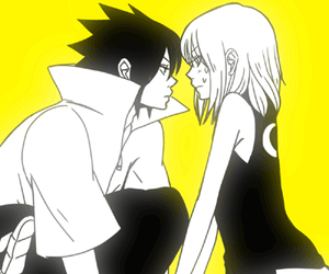 couple, naruto, and sasuke uchiha image