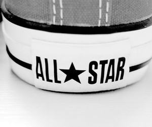 all star, black & white, and converse image