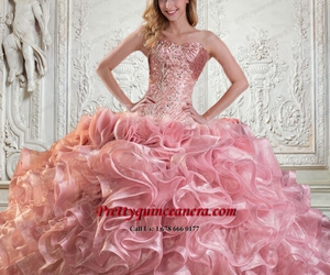 dress, pink, and 2015 image