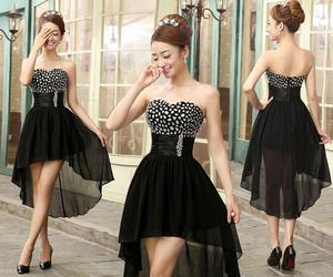 dress, black, and beautiful image