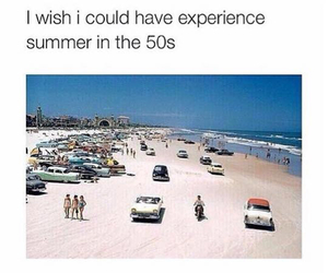 50s, beach, and summer image