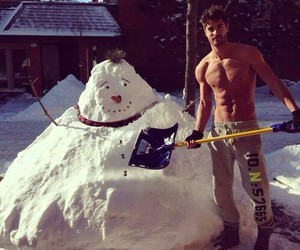 snow, Hot, and boy image