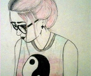 girl, drawing, and hipster image