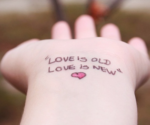 love, new, and old image