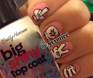 gloves, mickey mouse, and nails image
