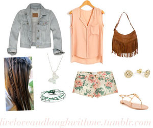 outfit, floral, and summer image