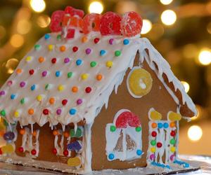 candy, christmas, and house image