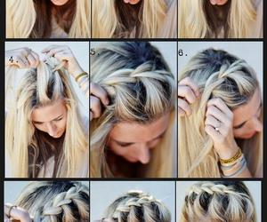 blond, steps, and braids image