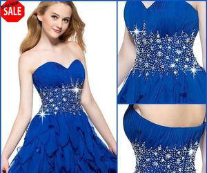 blue, dress, and so cute image