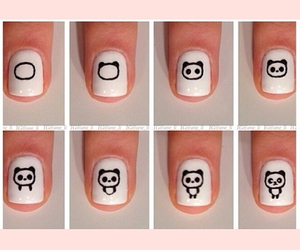 nails, panda, and diy image
