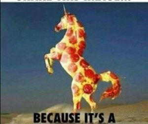 unicorn and pizza image