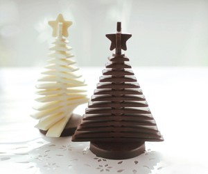choclate, christmas, and christmas tree image