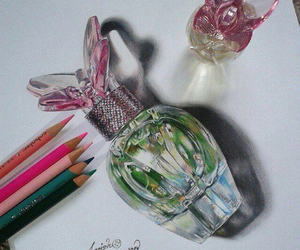 drawing, perfume, and art image