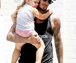 David Beckham and dad image