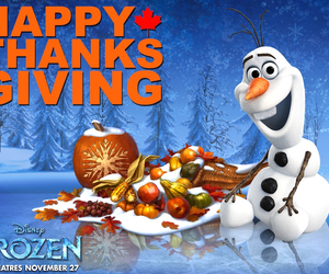 disney, olaf, and thanksgiving image