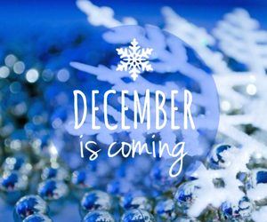 december, snow, and snowflake image