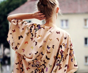 fashion, butterfly, and dress image