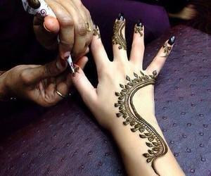 beautiful, henna, and mehndi image