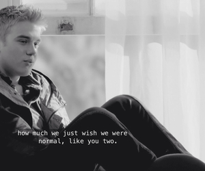 black and white, tv, and wolfblood image