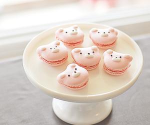 bear, pink, and dessert image