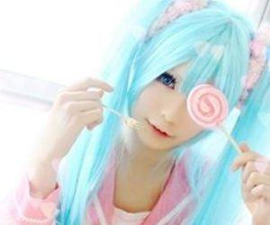 candy, cosplay, and hatsune miku image