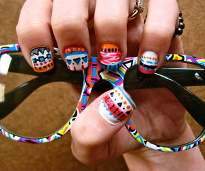 colours, glasses, and nails image