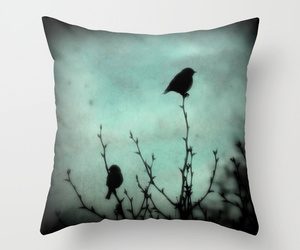 art, bed, and bird image