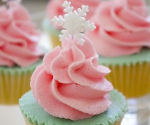 christmas, cupcakes, and pink image