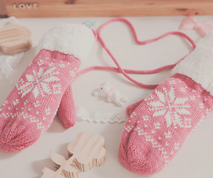 pink and winter image