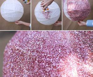 diy, pink, and glitter image