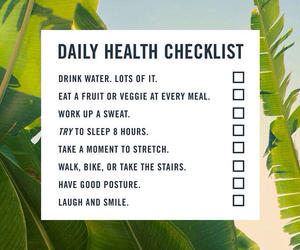 body, checklist, and health image
