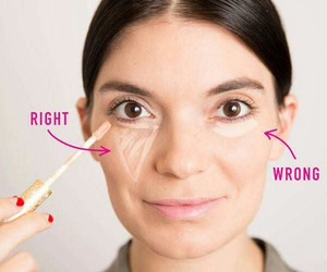 makeup, concealer, and beauty image