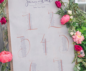 flowers, wedding, and seating chart image
