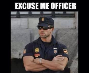 funny, Hot, and officer image