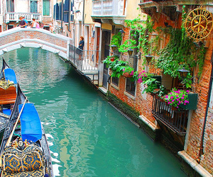 venice, boat, and italy image