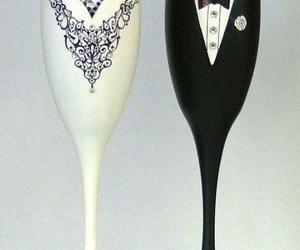 glass and wedding image
