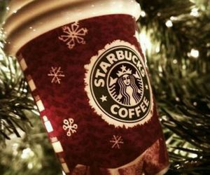 christmas, lights, and starbucks image