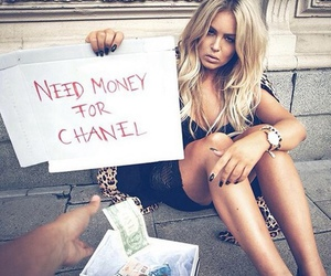 chanel, money, and blonde image