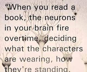 book, reading, and brain image