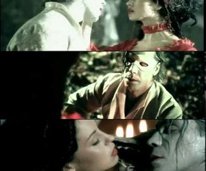 couple, rammstein, and red dress image