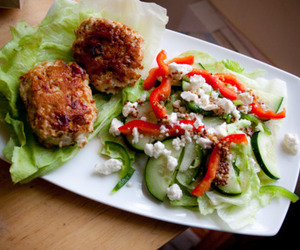 Chicken, feta, and salad image