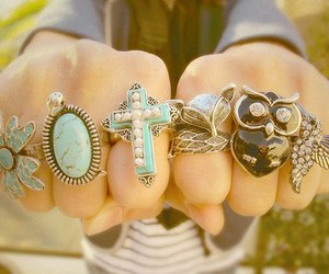 rings, fashion, and owl image